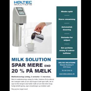 Mælk anlæg til Kaffebarer